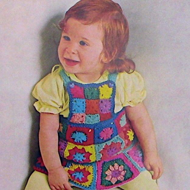 Bib Skirt Vintage Crochet Pattern