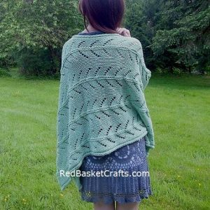 Poncho Lace Stitch Knitting Pattern - 4 Ply Worsted Yarn (Cotton Cake Brand)