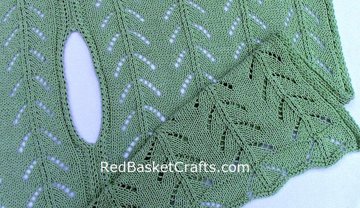 Cotton Poncho Knitting Pattern Openwork Stitch Worsted 4 Ply Cotton Yarn
