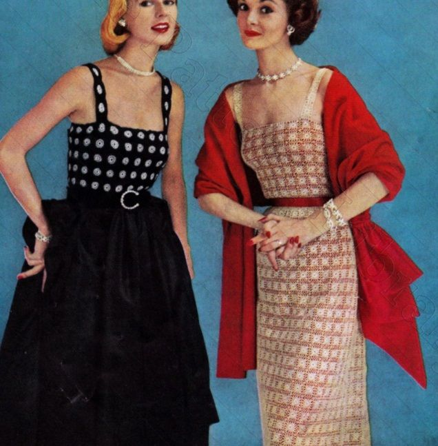 Crochet Blouse Dress Vintage Patterns