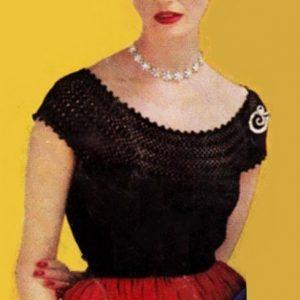 Blouse Vintage Crochet Pattern