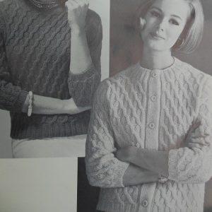 1960s Vintage Sweater Diagonal Stitch