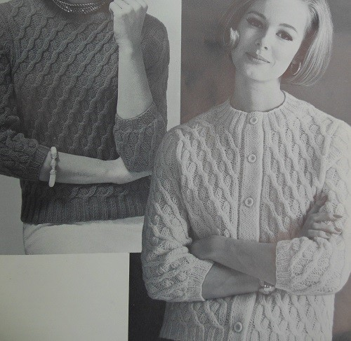 1960s Vintage Sweater Diagonal Stitch