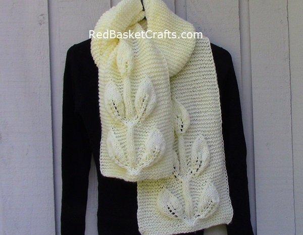 Leaf Stitch Scarf Knitting Pattern