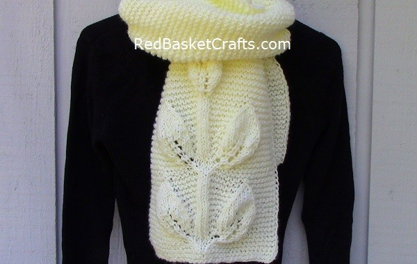 Mount Leaf Stitch Scarf Knitting Pattern