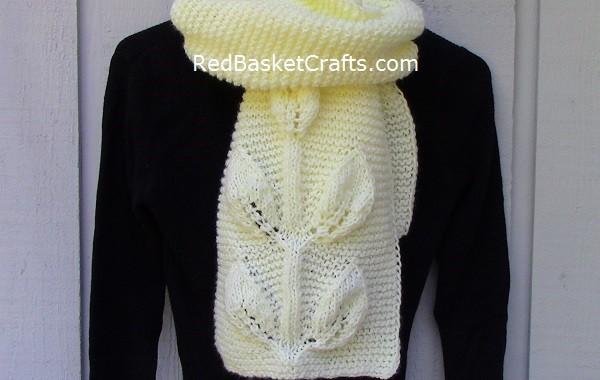 Mount Leaf Stitch Scarf Knitting Pattern