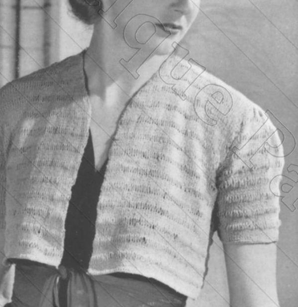 Short Sleeved Blouse Knitting Pattern