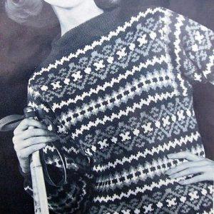Sweater Scandinavian Vintage Knitting Pattern
