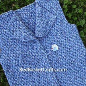 Country Vest Knitting Pattern by Red Basket Crafts