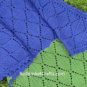 Lace Leaf Shawl Pattern by RedBasketCrafts