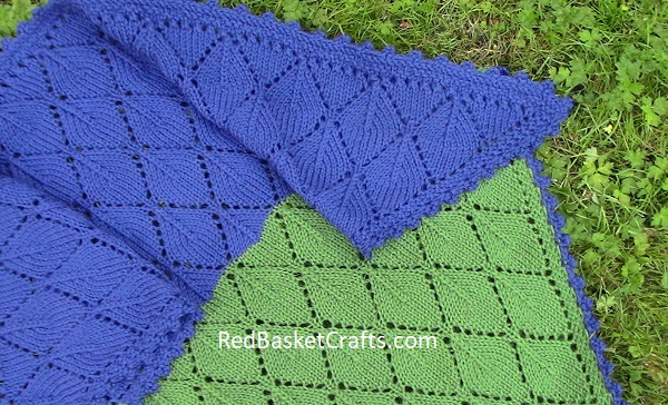 Lace Leaf Shawl by Red Basket Crafts