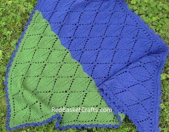 Lace Leaf Shawl Pattern Knit
