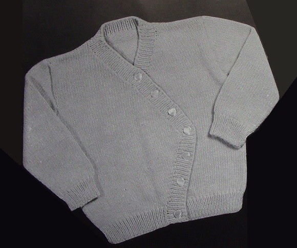 Baby Cardigan Vintage Knitting Pattern