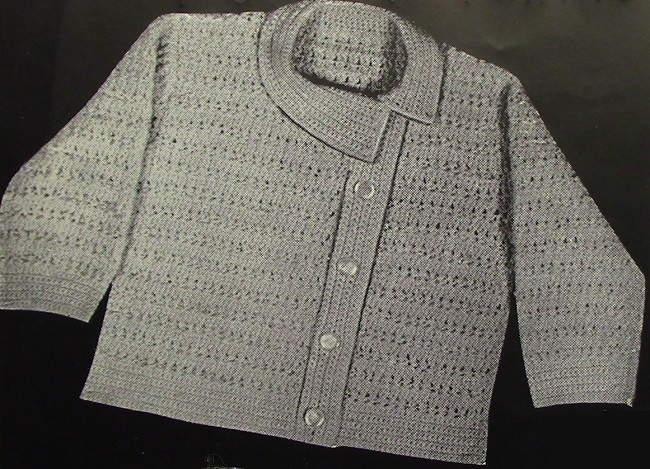 Baby Cardigan Vintage Knitting Pattern 3843