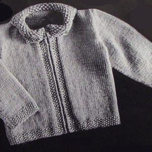 Baby Cardigan Vintage Knitting Pattern 3879