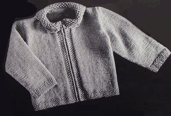 Baby Cardigan Vintage Knitting Pattern 3879