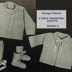 Baby Set Vintage Pattern 1960s