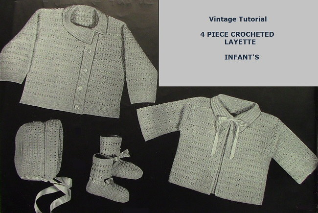 Baby Set Vintage Pattern 3843