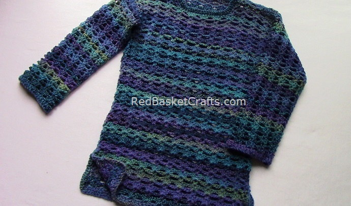 Breezy Sweater Crochet Pattern by Red Basket Crafts