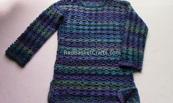 Breezy Tunic Sweater Crochet by Red Basket Crafts
