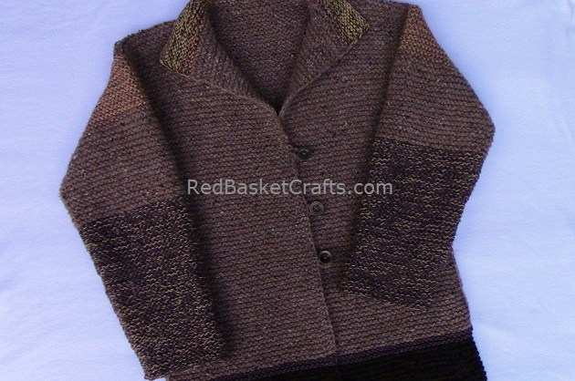 Knitted Garter Sweater - Pattern
