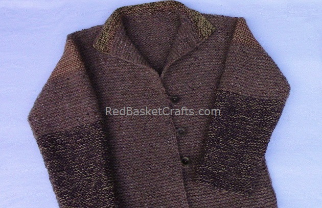 Knitted Garter Cardigan - Easy Pattern