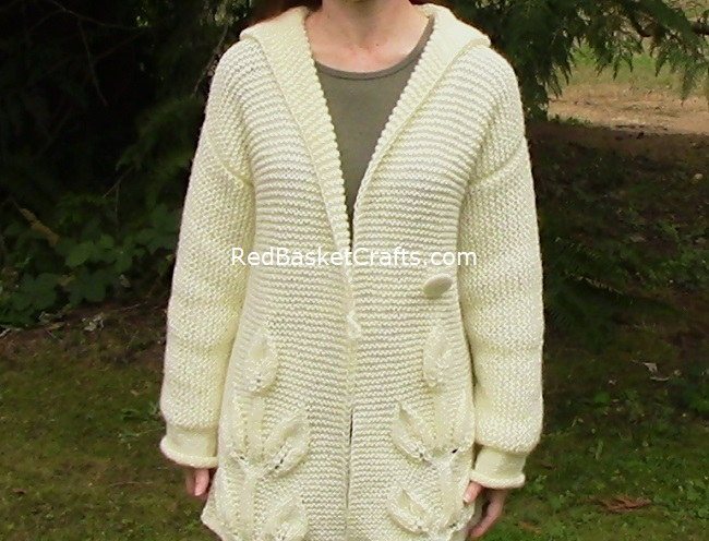 Leaf Cardigan Knitted Sweater