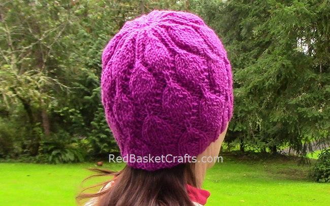 Dancing Leaf Beanie Hat Pattern by red Basket Crafts