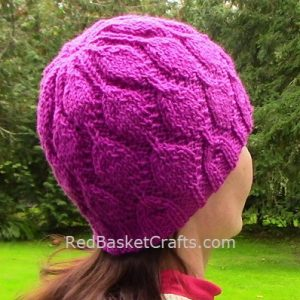 Dancing Leaf Stitch Hat by Red Basket Crafts