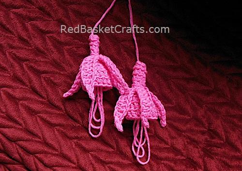 Deco Fuchsia Crochet Pattern by Red Basket Crafts