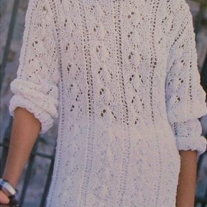 Diamond Lace Top Vintage Pattern Knitting