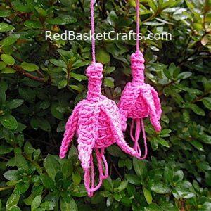 Fuchsia Crochet Flower Pattern by Red Basket Crafts
