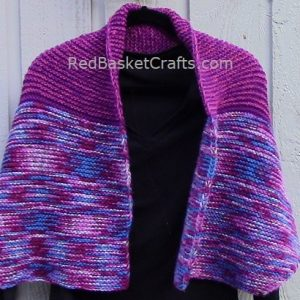 Knit Fireplace Shawl by Red Basket Crafts