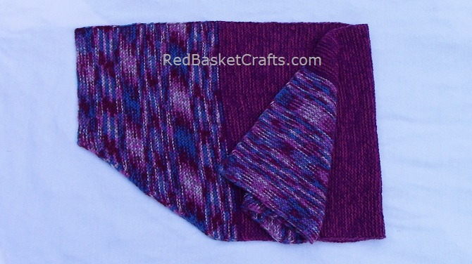 Knitted Fireplace Shawl by Red Basket Crafts