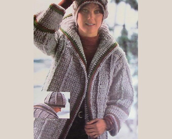 Walk Cardigan Hat Crochet