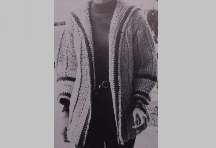 Winter Walk Cardigan Crochet 1970s Vintage
