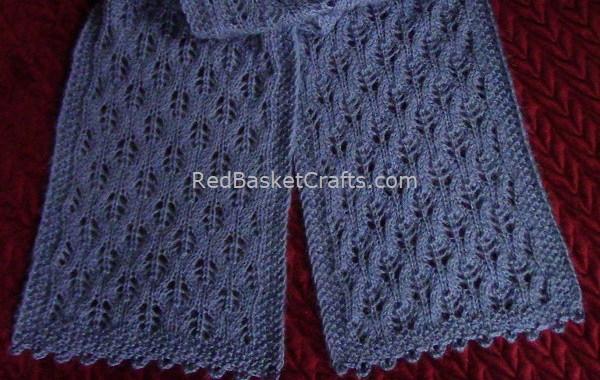 Airy Leaf Stitch Scarf Knitting Pattern