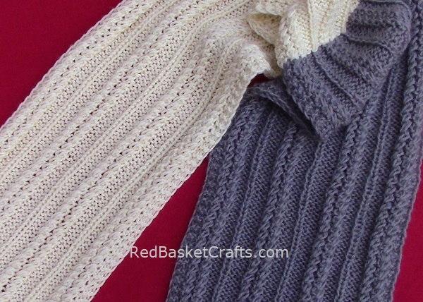 Rib Stitch Scarf Knitting Pattern