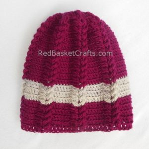 Leaf Beanie for Kids, Teens, Adults- Crochet Pattern