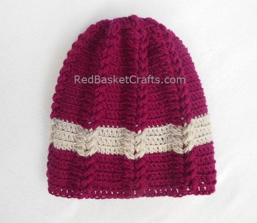 Leaf Beanie for Kids, Teens, Adults- Crochet Pattern