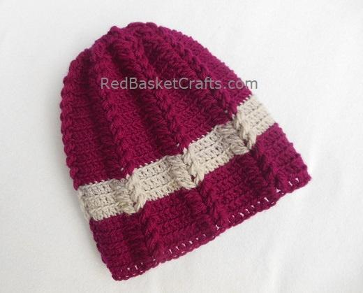 Ribbed Hat Crochet Pattern