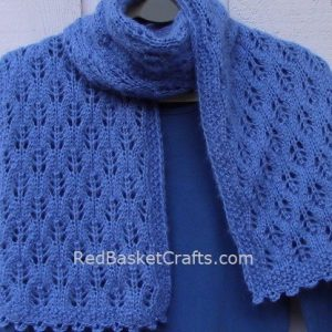 Leaf Scarf Knitting Pattern