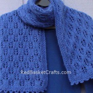 Leaf Scarf Knitting Pattern