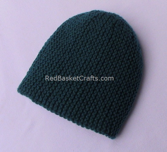 ~ Novice Garter Beanie Hat by Red Basket Crafts ~