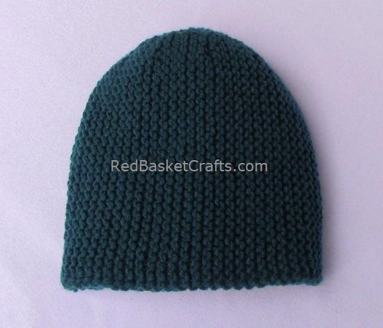 Novice Garter Hat for Beginners by Red Basket Crafts