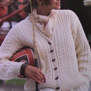 V-Neck Cardigan Vintage Knit