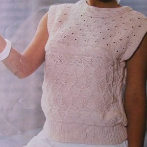 White Lace Vest Knitting