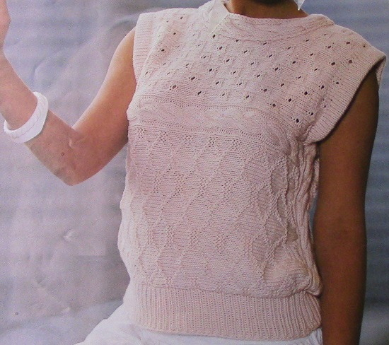 White Lace Vest Knitting