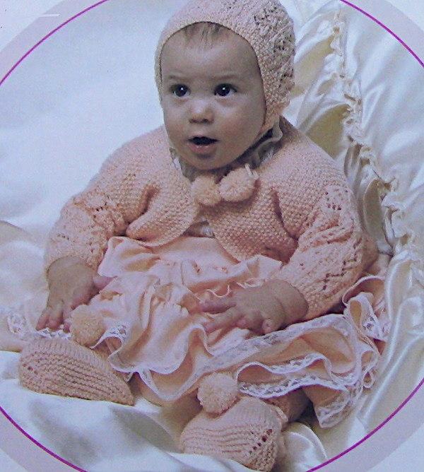Zigzag Lace Baby Set Knitting Pattern