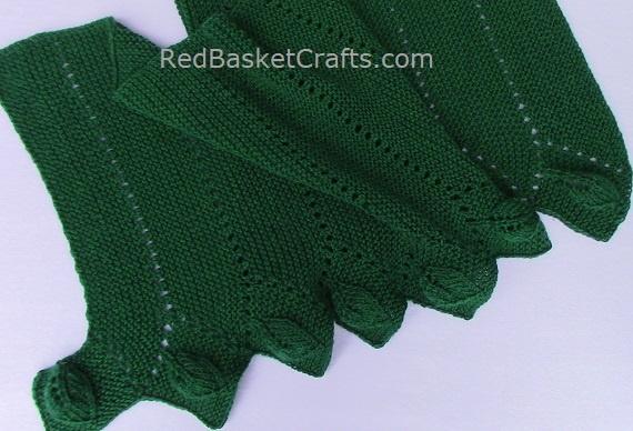 Leaf Stitch Shawl Scarf Knitting Pattern